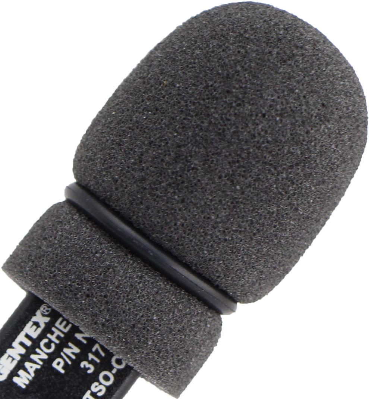 Open Cockpit 3 x Pilot Aviation Headset Microphone Cover Windshield Foam Sponge