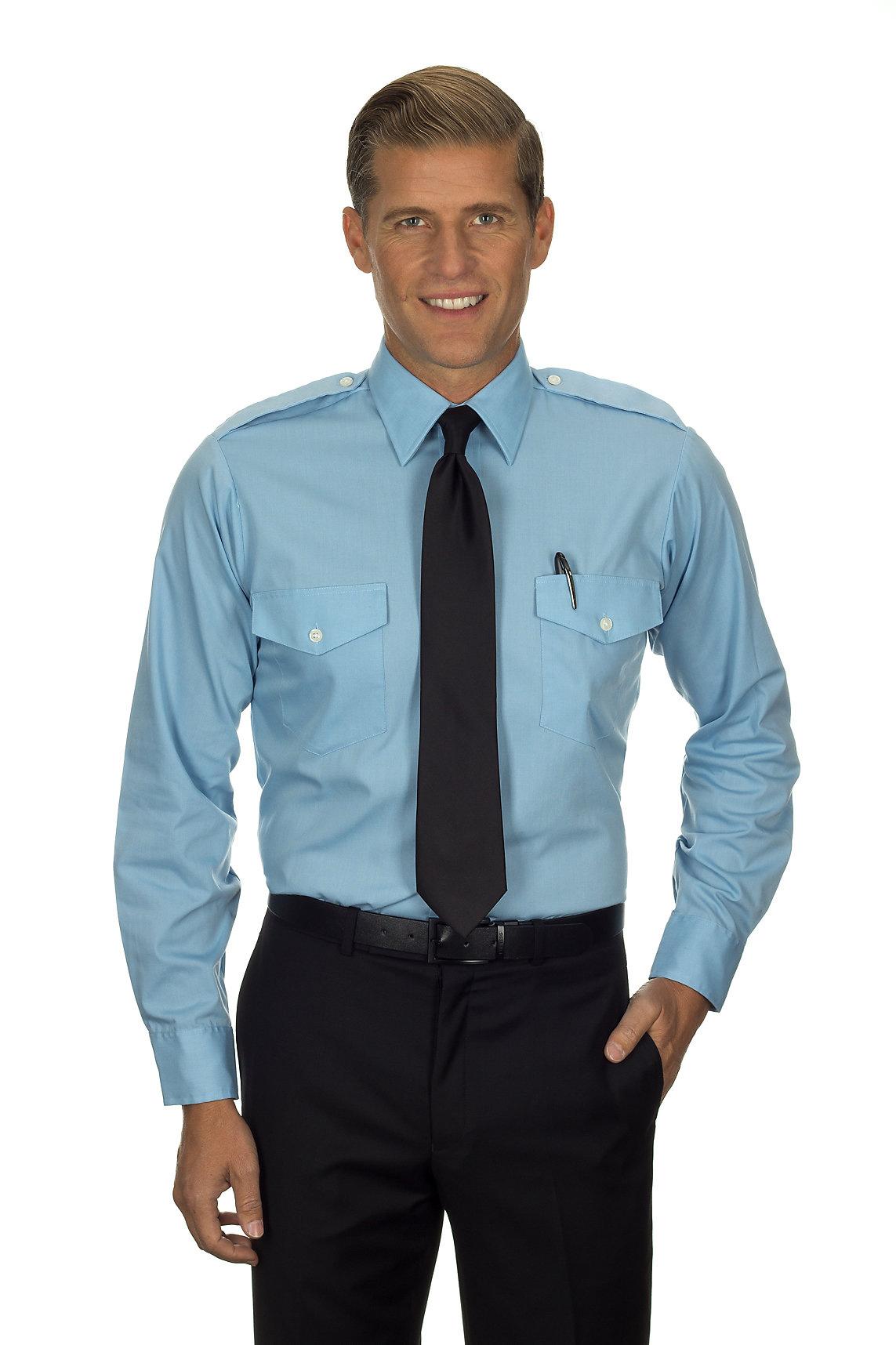 bbbe7a66f0a Van Heusen Aviator Shirt - Men s Long Sleeve - BLUE - MyPilotStore.com