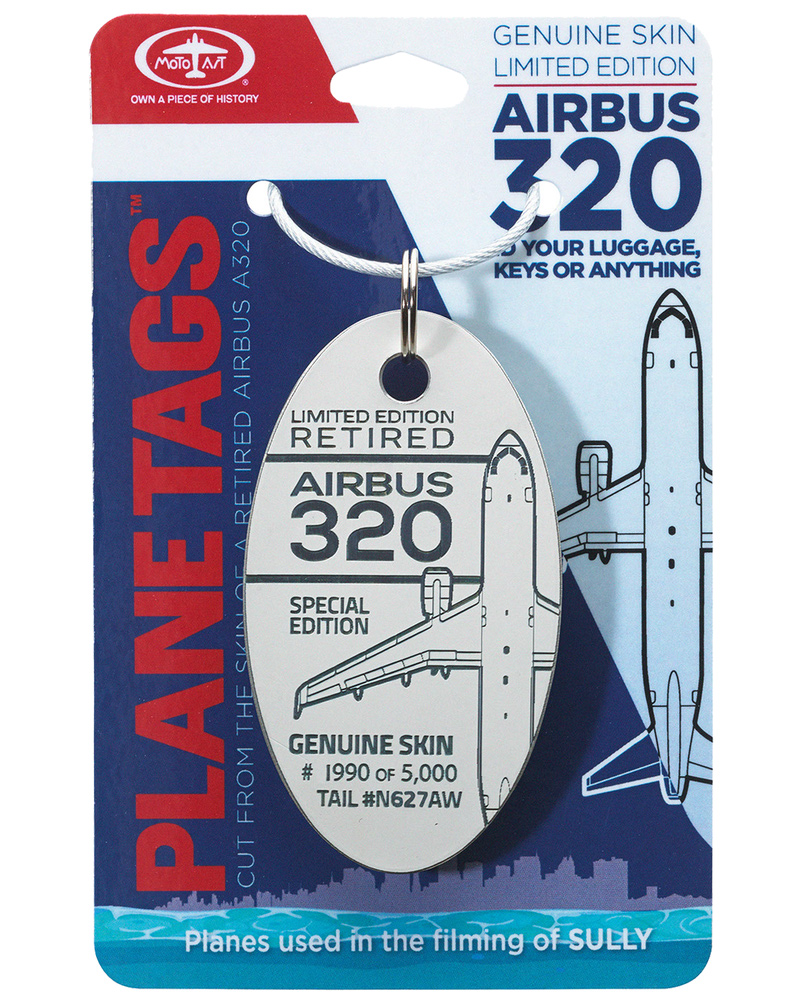 Genuine Airbus A320 Plane Tag From 'Sully' - White on qatar airways a350 seat map, us airways airbus a330-200 seat map, us airways embraer 175 seat map, us airways canadair jet seat map, etihad airways a320 seat map, aer lingus a320 seat map, us airways crj-200 seat map, us airways boeing 767 seat map, spirit airlines seating chart seat map, us airways boeing 737-800 seat map,