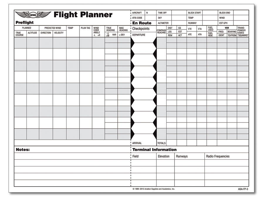 picture relating to Asa Flight Planner Printable identified as ASA Flight Planner Sheets