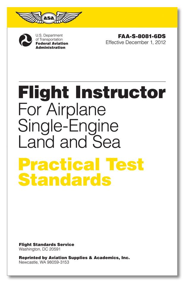 066ecd4afe2 Practical Test Standards  CFI - Single-Engine - MyPilotStore.com
