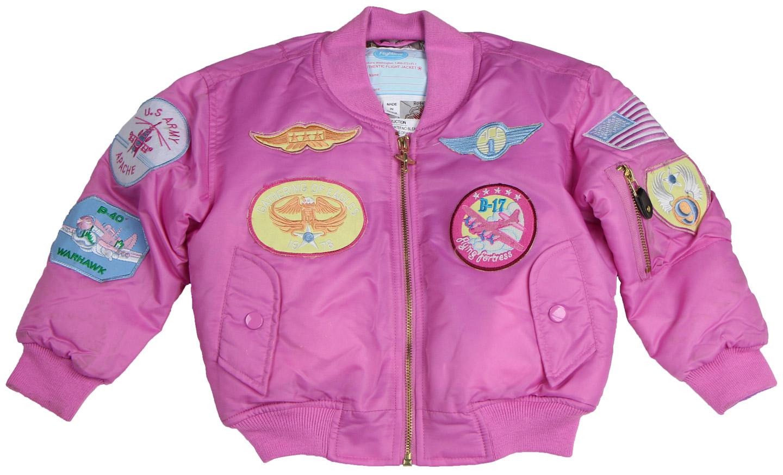 cb9cd6683 Girl's Pink MA-1 Flight Jacket