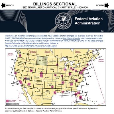 VFR: BILLINGS Sectional Chart