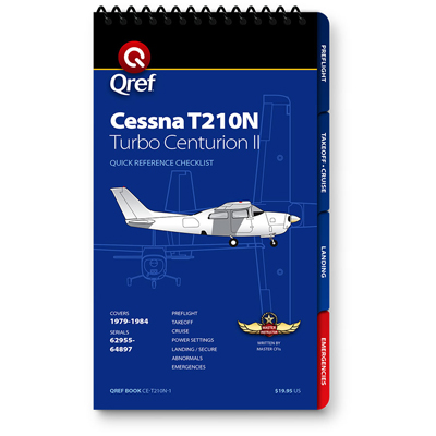 Cessna 210N Turbo Checklist Qref Book