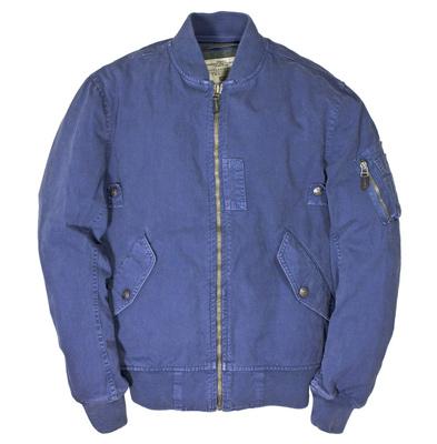 Cockpit USA Sun Faded Cotton MA-1 Jacket (Blue)