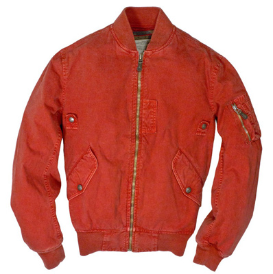 Cockpit USA Sun Faded Cotton MA-1 Jacket (Red)