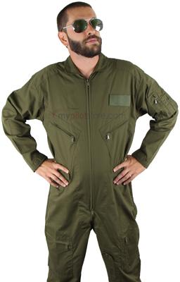 Flight Suit Cotton/Poly - Olive Drab