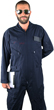 Flight Suit Cotton/Poly - Navy Blue