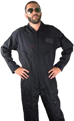 Flight Suit Cotton/Poly - Black