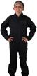 Kids Air Force Style Flight Suit - Black