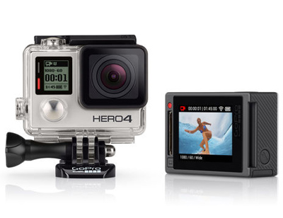 GoPro HERO 4 HD Video Camera - Silver Edition  + Free 64GB SD Card