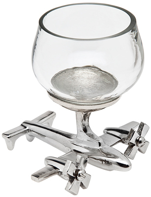 Shot Glass with Airplane Base