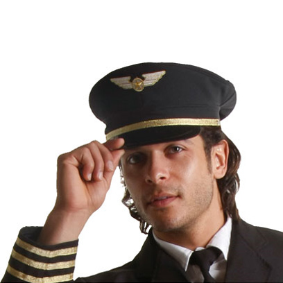 Airline Pilot Costume Hat - Adult