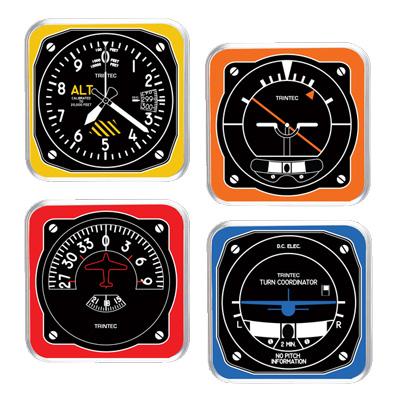 Retro Modern Aircraft Instrument Acrylic Coaster Set