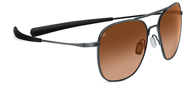 Serengeti Aerial Shiny Gunmetal Drivers Gradient Sunglasses
