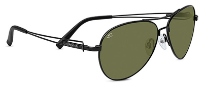Serengeti Brando Satin Black 555nm Sunglasses