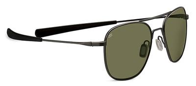 Serengeti Sortie Satin Black 555nm Sunglasses