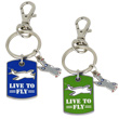 Live to Fly Dogtag Keychain