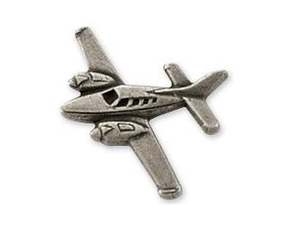 Beech Baron Airplane Pin - Silver