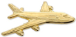 Boeing 747 Airplane Pin - Gold