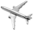 Boeing 767 Airplane Pin - Silver