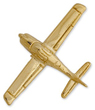 Cirrus Airplane Pin - Gold