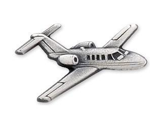 Citation Jet / CJ1 Airplane Pin - Silver