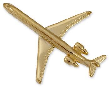CRJ-900 Airplane Pin - Gold