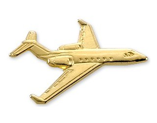 Gulfstream IV/G300/G400 Airplane Pin - Gold
