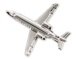 Learjet 45 Airplane Pin - Silver