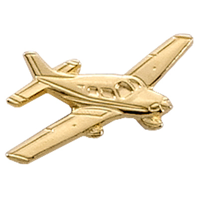 Piper Archer II Airplane Pin - Gold