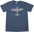 Plane Collage T-Shirt - Ash