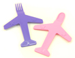 Airplane Fork and Spoon Set - Pink / Purple