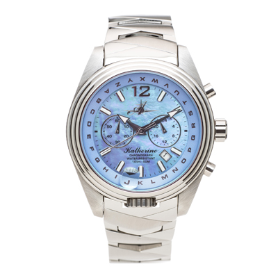 Abingdon Katherine Aviator Watch - Sky Blue