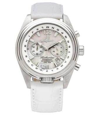 Abingdon Katherine Aviator Watch - Pearl White