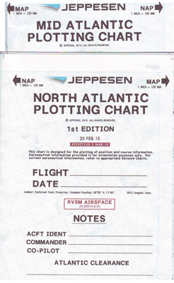 Jeppesen North Atlantic and Mid Atlantic Plotting Charts