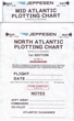 Jeppesen North Atlantic and Mid Atlantic Plotting Chart