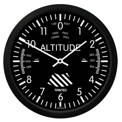 Altimeter Wall Clock - 10 Inch
