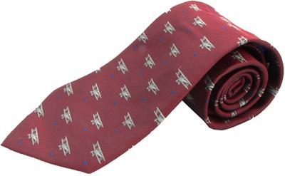 Biplane Silk Tie - Red
