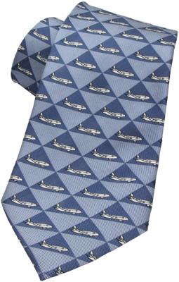 Airbus Silk Tie - Light Blue / Silver