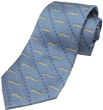 AH-64 Apache Helicopter Silk Tie - Stone Blue / Silver