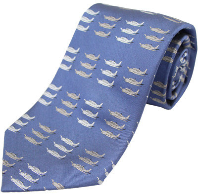 Beechcraft Bonanza Silk Tie - Blue