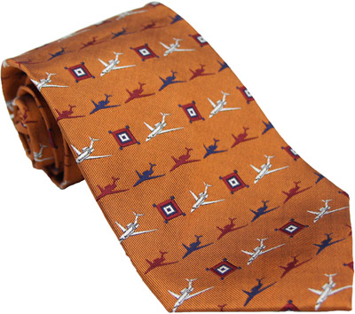 Citation Silk Tie - Cinnamon