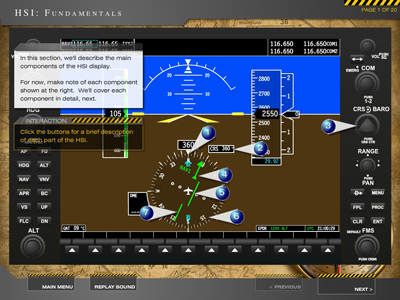 Navigation and Advanced Avionics Training Software