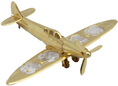 Crystal Spitfire Ornament