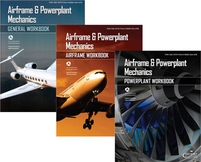 Aiframe & Powerplant Mechanics Workbook Bundle - General, Airframe, Powerplant