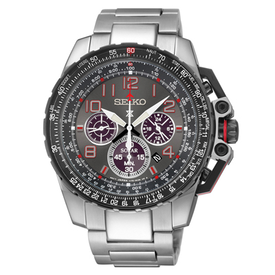 Seiko Prospex SSC315 Solar Aviation Chronograph Watch