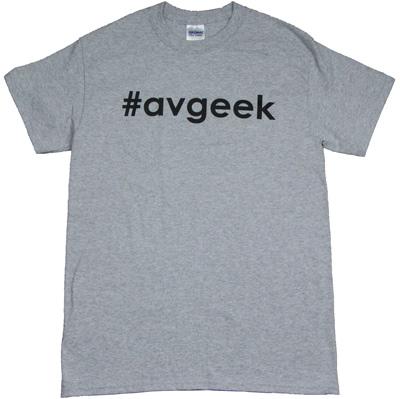 #avgeek T-Shirt - Black on Gray