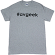 #avgeek T-Shirt - Black on Gray