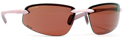 VedaloHD Como Semi Rimless Aluminum Wrap Pink with Copper Rose Lens